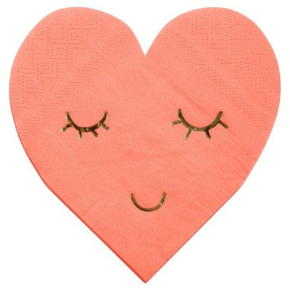 Meri Meri Heart Paper Napkins - Set of 16-listing