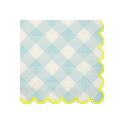 Meri Meri Gingham Paper Napkins - Set of 20-product