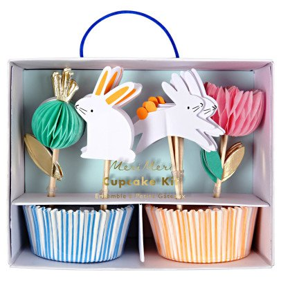 Meri Meri Rabbit Cupcake Cases and Decorations - Set of 24-listing