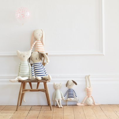 Meri Meri Striped Knit Rabbit Soft Toy-product