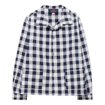 The Animals Observatory Wolf Apple Gingham Shirt-listing