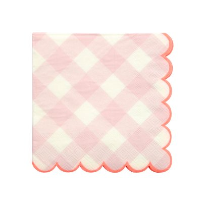 Meri Meri Gingham Paper Napkins - Set of 20-listing