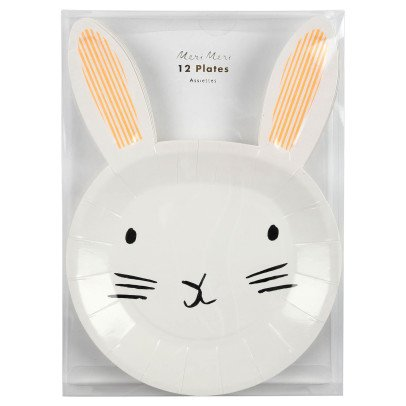 Meri Meri Rabbit Paper Plates - Set of 12-product
