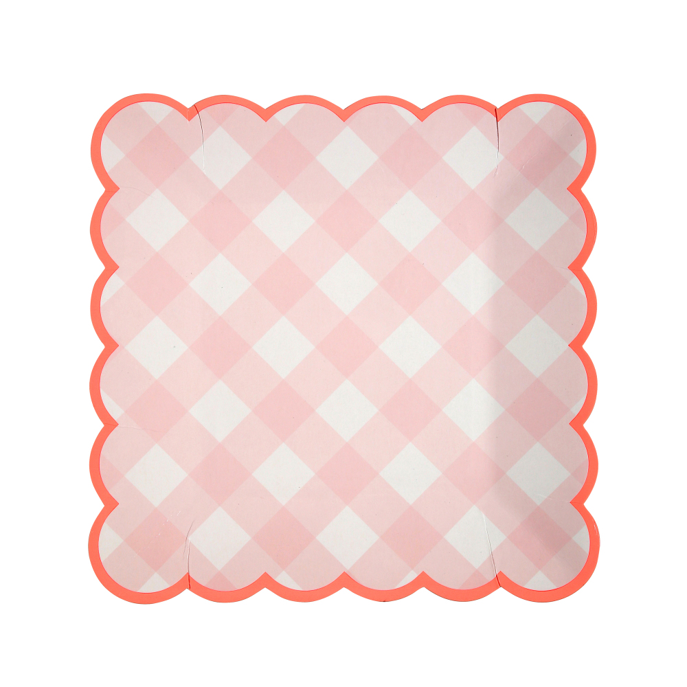 Gingham Paper Plates - Set of 12-product  sc 1 st  Smallable & Gingham Paper Plates - Set of 12 Pink Meri Meri Design Children