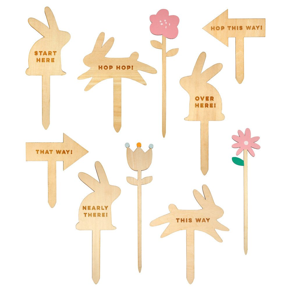 Easter Egg Hunt Kit - Set of 11 Wooden Signs-product