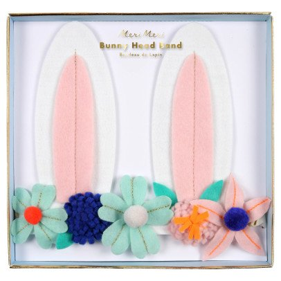 Meri Meri Flower and Rabbit Ear Bandeau-listing