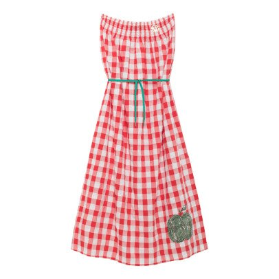 The Animals Observatory Dolphin Gingham Maxi Dress-listing