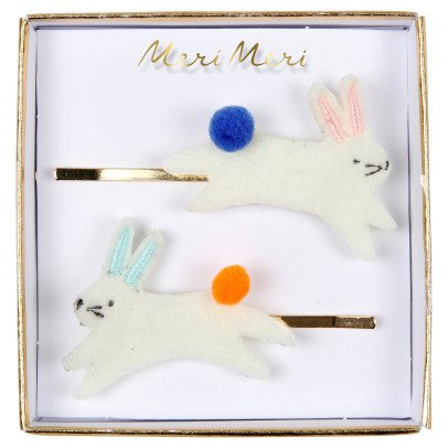 Meri Meri Rabbit Hair Grips - Set of 2-listing