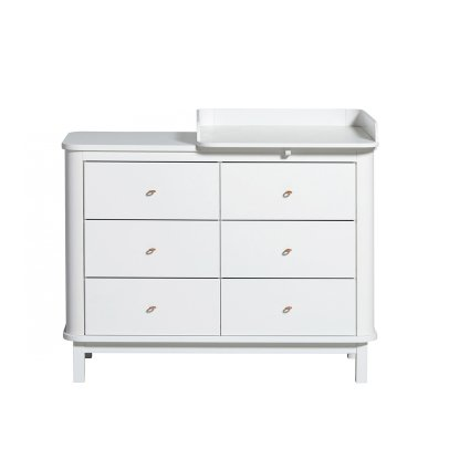 Oliver Furniture Birch 6 Drawer Changing Table with Changing Mat-listing