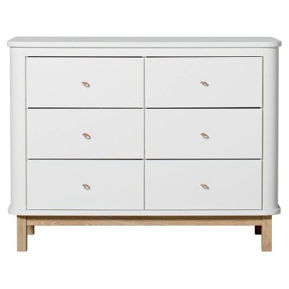 Oliver Furniture Oak 6 Drawer Chest-listing