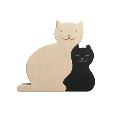 Briki Vroom Vroom Decorative Maple Wood Cat Puzzle-listing