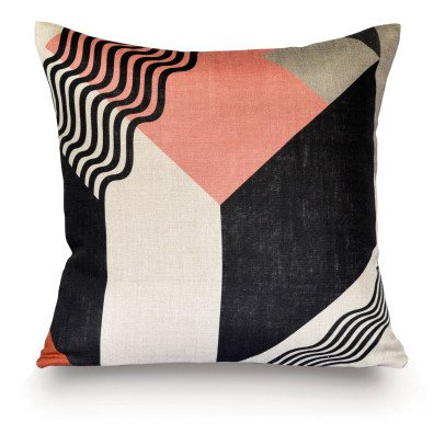 Rouge du Rhin Tampa Natural Linen Cushion 50x50cm-listing