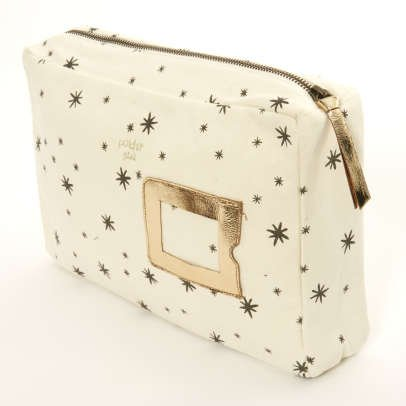 Polder Girl Ecru Toiletry Bag 29x19cm - Grey Star-listing