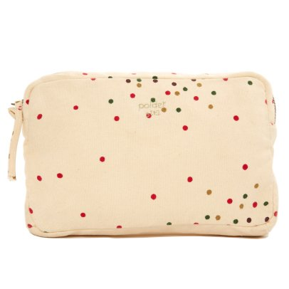 Polder Girl Ecru Toiletry Bag 21x14cm - Polka Dot-listing