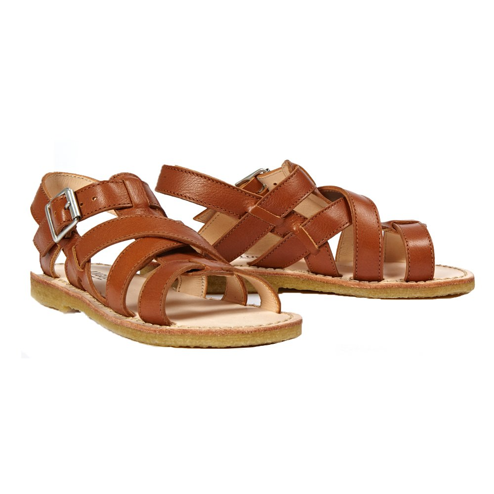 Sale - Multi Bridle Leather Buckled Sandals - Angulus Angulus puh3z