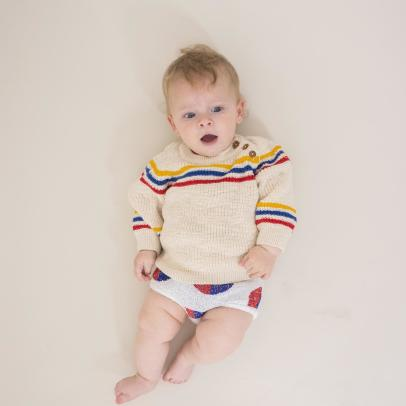 Bobo Choses Stripe Buttoned Jumper-listing