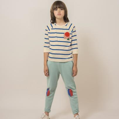 Bobo Choses T-shirt mondo a righe in cotone bio -listing