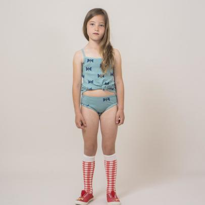 Bobo Choses Organic Cotton Bow Vest Top + Knickers Set-product