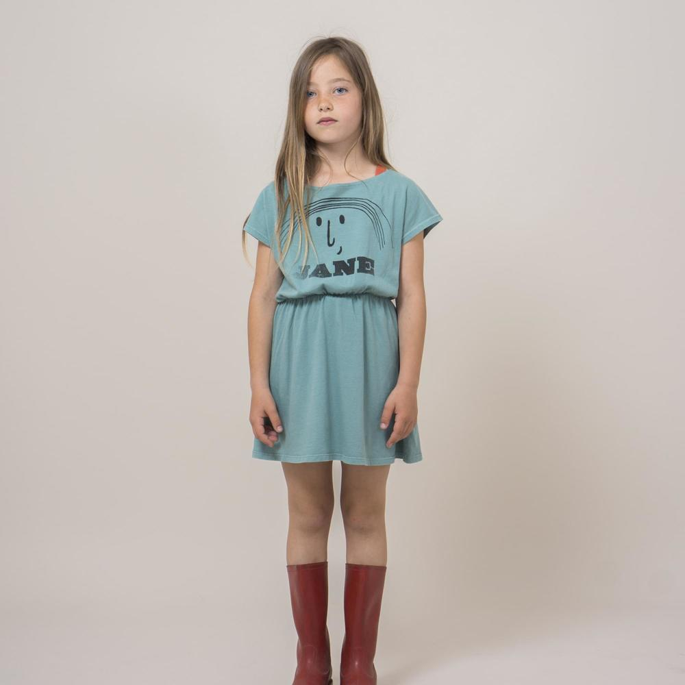 Organic Cotton Jane Dress Green water Bobo Choses Fashion