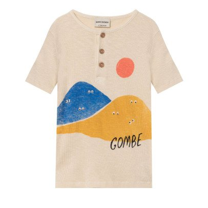 Bobo Choses Organic Cotton Gombe Buttoned T-Shirt-listing