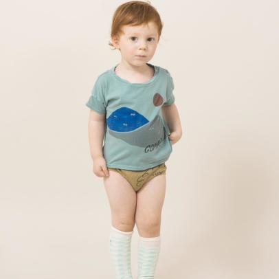 Bobo Choses Gombe Organic Cotton Popper T-Shirt-listing