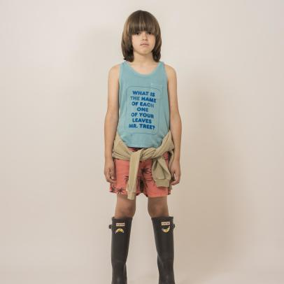 Bobo Choses Palm Tree Linen Shorts-listing