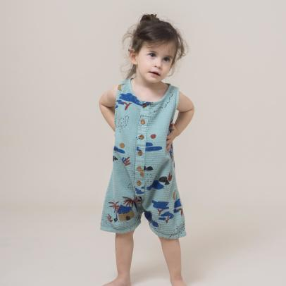 Bobo Choses Village Buttoned Playsuit-listing