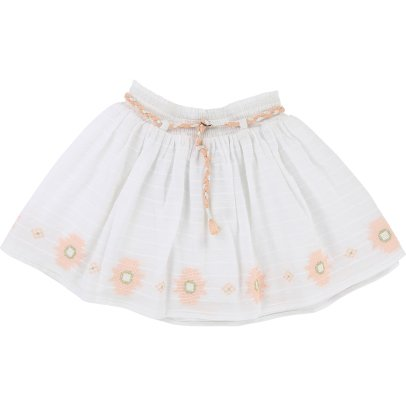 CARREMENT BEAU Embroidered Woven Skirt-listing