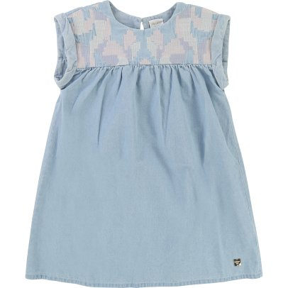 Kleid Stickerei Anemone Seladon Stella McCartney Kids Mode