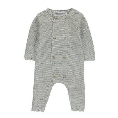 Sale - Buttoned Pima Cotton Knit Jumpsuit - Tartine et Chocolat Tartine Et Chocolat Wholesale Price Very Cheap Cheap Online Shop For Sale Discount 2018 UQqD4Ob
