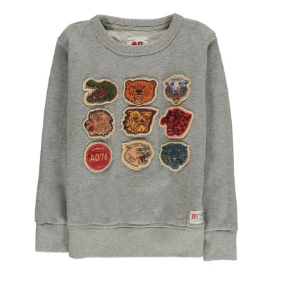 AO76 Animal Patch Sweatshirt-listing