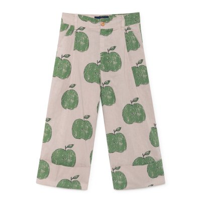 The Animals Observatory Elephant Linen Cotton Apple Trousers-listing
