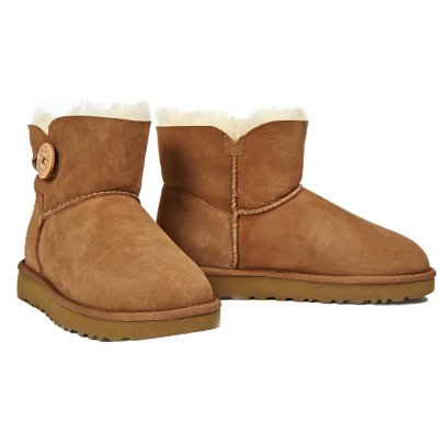 Ugg Mini Bailey Buttons II Suede Fur Lined Boots-listing