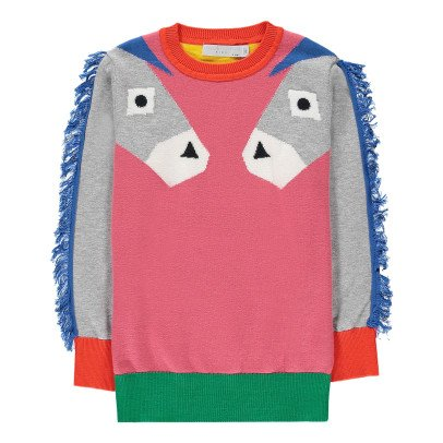 Stella McCartney Kids Lucky Donkey Fringed Jumper-listing