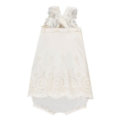 Stella McCartney Kids Henley Broderie Anglaise Organic Cotton Dress + Bloomers-listing