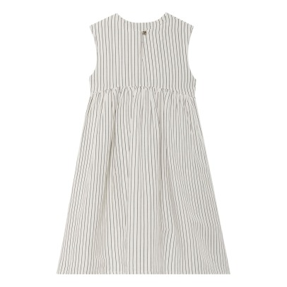Little Creative Factory Tap Striped Linen Sleeveless Dress-listing