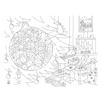 Omy Christmas Colouring Placemats-listing