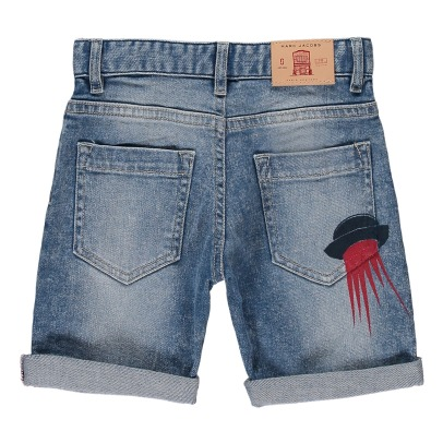 Little Marc Jacobs Denim Undercut Board Shorts-product