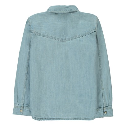 Finger in the nose Dusk Popper Denim Shirt-listing