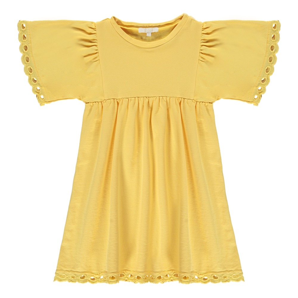 Embroidered Finish Fleece Dress-product