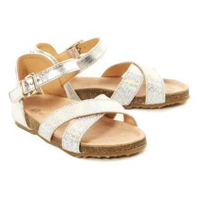 Ocra Balthazar Laminated Leather Sandals with Buckle-listing