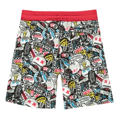 Little Marc Jacobs Graffiti Punk Fleece Board Shorts-listing
