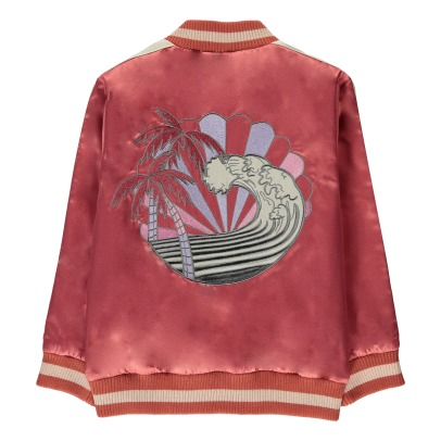 Stella McCartney Kids Willow Embroidered Waterproof Baseball Jacket-listing