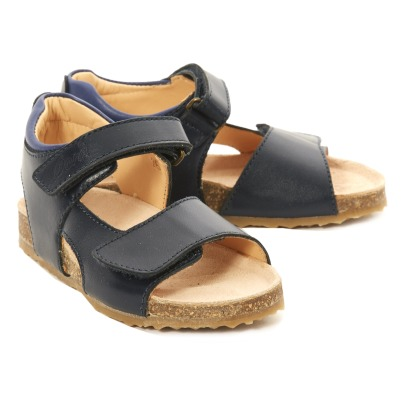Ocra Leather Velcro Sandals-listing