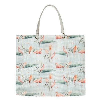 Maison Baluchon Grand Sac de Course Flamants Roses-product