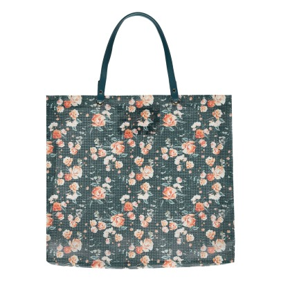 Maison Baluchon Shopping bag stampa floreale -listing