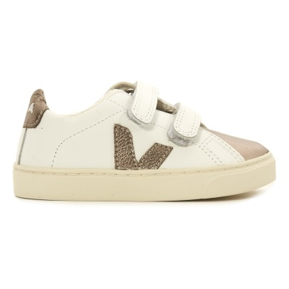 Veja Two-Tone Esplar Leather Velcro Trainers-listing