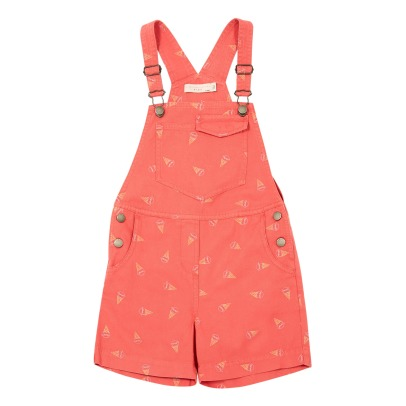 Stella McCartney Kids Charity Embroidered Ice Cream Dungaree Shorts-listing