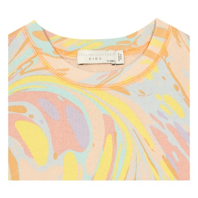 Stella McCartney Kids Savannah Marbled Organic Cotton Dress-listing