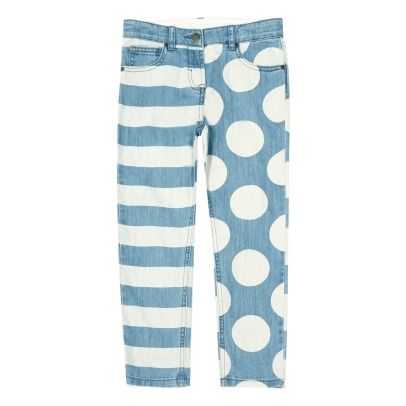 Stella McCartney Kids Jeans a righe e pois Lohan-listing